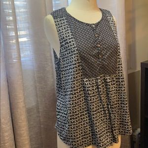 Loft Buy 2 items for $10 Navy and white tank